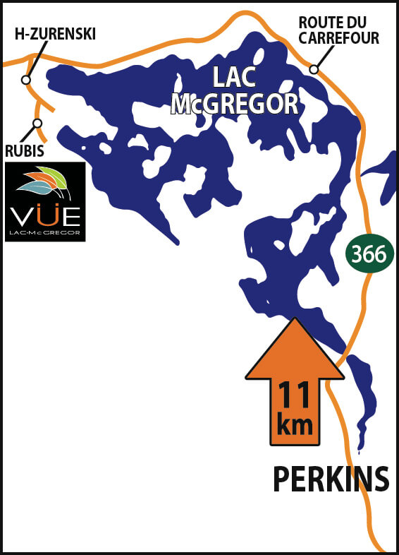 Vue lac McGregor  perkins route 366